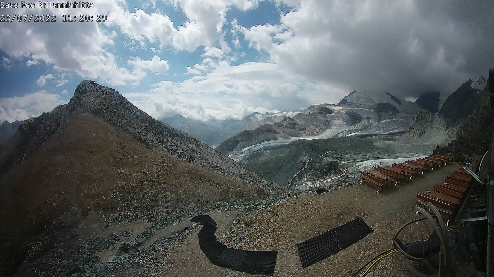 Webcam Britanniahütte Saas-Fee